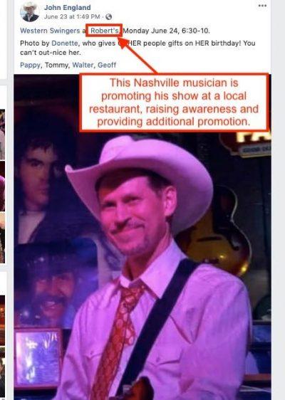دعوت از یک موزیسین معروف در افتتاحیه یک رستوران