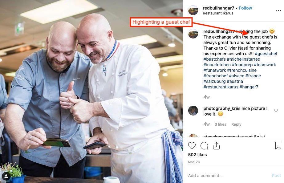 دعوت از سرآسپز مهمان برای تبلیغ یک رستوران